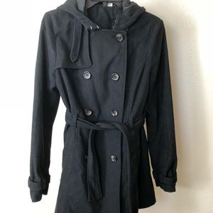H&M Peacoat with hood / Pea coat Hoodie